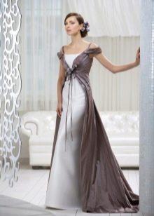 платье накидкой  из тафты