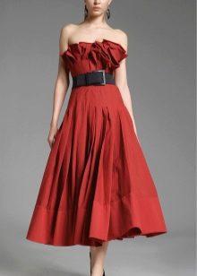 платье-бюстье из тафты