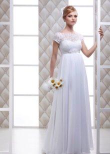 свадебное платье из тафты для беременных