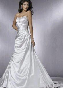 лаконичное свадебное платье из тафты