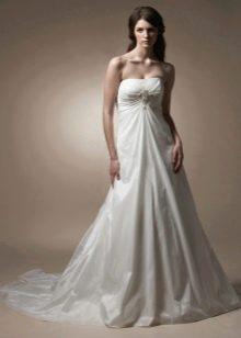 свадебное платье-бюстье из тафты