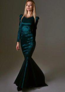 вечернее платье-русалка из тафты