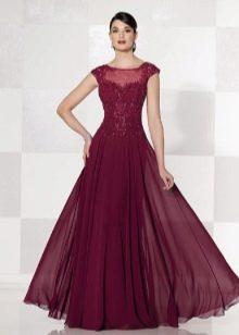 нарядное платье из лиловой тафты