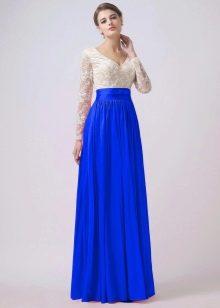 платье из тафты цвета ультрамарин