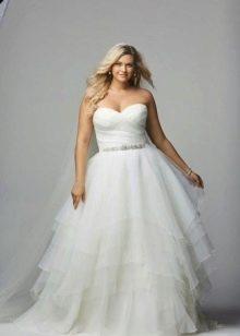 свадебное платье для полных из тафты