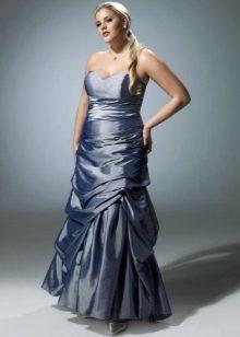 платье-бюстье из тафты для полных