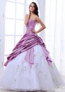 цветное свадебное платье из тафты