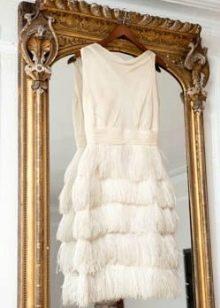 Короткое платье с бахромой