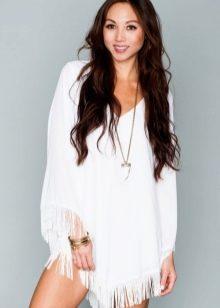 Повседневное платье с бахромой