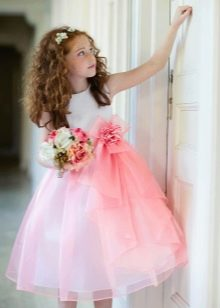 Пышное платье для девочки 5 лет
