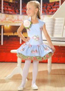 Нарядное с пышной юбкой платье для девочки 5 лет
