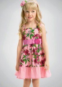 Расклешенное платье для девочки 5 лет