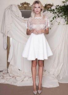 Белая миди юбка полусолнце на лето