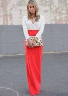 Прямая длинная в пол юбка