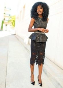Прямая юбка для женщин с фигурой типа прямоугольник