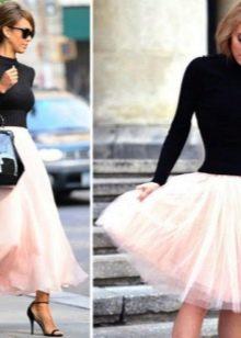 юбка-миди: варианты моделей