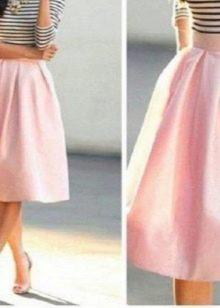 пышная юбка средней длины