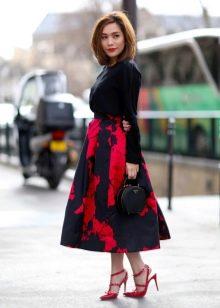 юбка пышная черная из сетки
