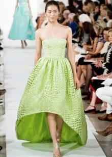 Салатовое платье бюстье