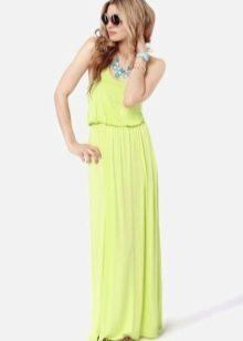 Летнее салатовое платье