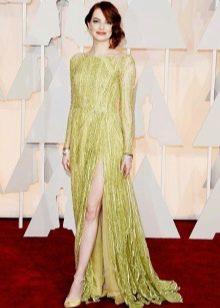 Вевернее длинное салатовое платье
