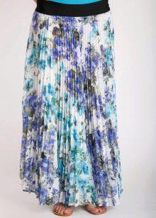 юбка-плиссе с цветиочным принтом