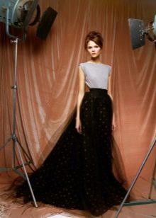 шифоновая юбка в романтичном образе