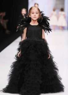 Шикарное дизайнерское  пышное платье в пол для девочки