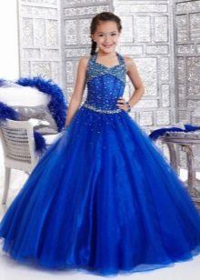 Шикарное  пышное платье для девочки на бретелях