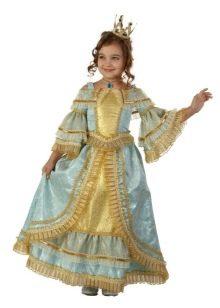 Шикарное  новогоднее пышное историческое платье  для девочки