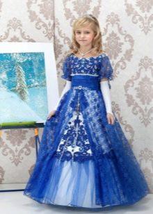 Шикарное  новогоднее кружевное пышное платье  для девочки