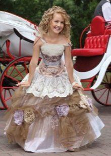 Шикарное пышное платье для девочки в пол
