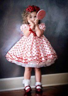 Шикарное  свадебное пышное платье  для девочки в стиле ретро