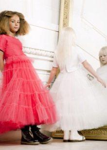 Шикарное дизайнерское  пышное платье миди ля девочки