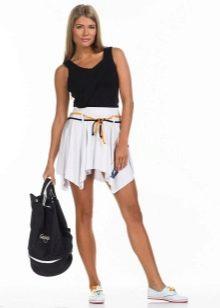 белая спортивная юбка