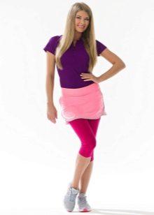 розовая спортивная юбка