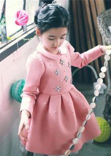 Пышное зимнее платье для девочек