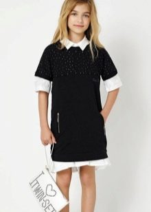 Зимнее платье-поло для девочек