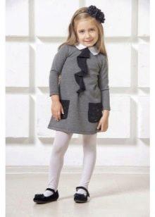 Зимнее платье-рубашка для девочек