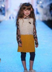 Зимнее платье-туника для девочек