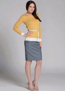 юбка-карандаш средней длины для офиса