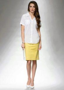 летняя юбка-карандаш средней длины