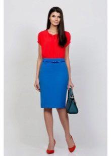 с чем носить юбку цвета аквамарин