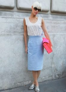 джжинсовая юбка-карандаш