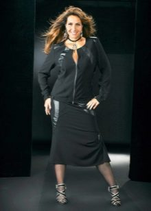 юбка-карандаш ниже колена  для полных женщин