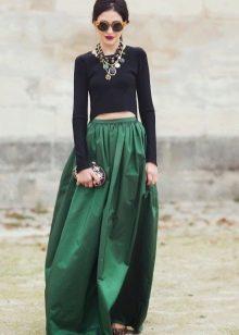 изумрудная юбка-солнце