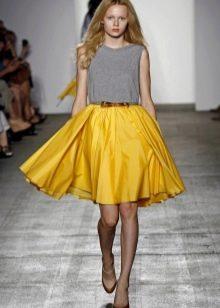 пышная яркая юбка-солнце