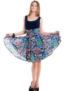 летняя юбка-солнце с ярким рисунком