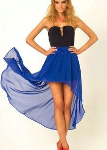 синяя каскадная юбка-солнце