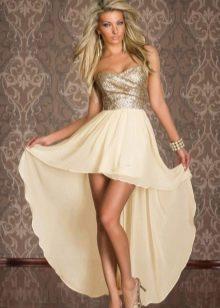 кремовая юбка-солнце со шлейфом